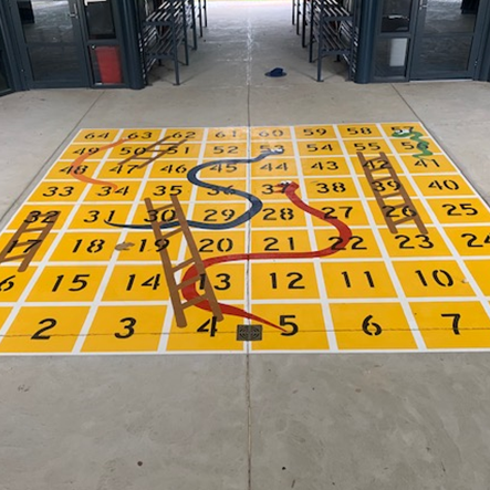 PWS Public School Line Marking Snakes and Ladders